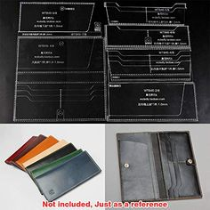 WUTA Leather Craft Template Acrylic Pattern Long Wallet Cutting Model for Beginner DIY Handmade Simple Clutch Long Purse Diy Wallet Pattern, Leather Wallet Pattern, Backpack Pattern, Leather Card Wallet, Leather Clutch, Diy Long Wallet, Messenger Bag Patterns, Diy Leather Craft Tools, Mini Car