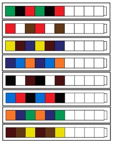 unifix pattern worksheets...print out and/or make your own patterns
