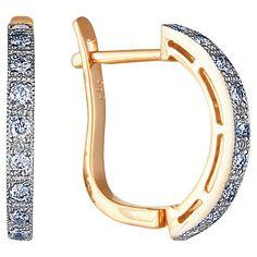 Золотые серьги  71791RS http://topchasy.ru/index.php?route=product/product&product_id=175295  Price:  66 470.00 р.Серьги с бриллиантами. 18 бриллиантов 0,396 карат;. Материал: красное золото 585 пр. Средний вес: 3.78 гр..