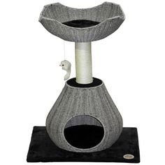 Go Pet Club 35-inch Grey Wicker Cat Tree and Bed | Overstock.com Shopping - The Best Deals on Cat Furniture