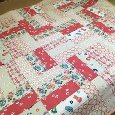Last week we received two quilts for Project Linus. This beauty was made from a jelly roll and I know it will be well loved by a child in need of comfort. Thank you #projectlinus #sewing #sewingshop #patchwork #quilting #fabric