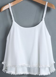 White Pom Pom Tank - with a covering tank under it of course!