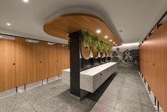 Australia's best public toilet is at a Sydney shopping centre Wc Public, Architecture Design, Toilette Design, Parents Room, Restroom Design, Centre Commercial, Public Bathrooms, Custom Lighting, Shopping Center