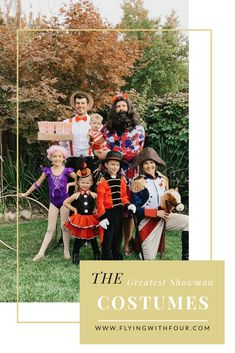 The Greatest Showman Costumes are perfect for a large family or large group. There are many characters and ideas when creating the Greatest Show! Circus Family Costume, Circus Themed Costumes, Circus Halloween Costumes, Family Halloween Costumes, Halloween Kostüm, Holidays Halloween, Diy Costumes, Costume Ideas, The Greatest Showman