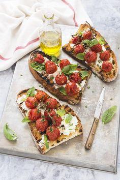 pomodorini confit - pomodorini caramellati - pomodorini al forno - tomato confit bruschetta
