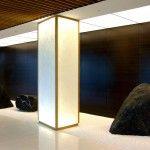 Illuminated Washi Column in Japanese Zen Garden – Precious Pieces - Architectural Parchment For Interiors Column Lights, Interior Columns, Column Design, Funky Art, Light Art, Installation Art, Lighting Design, Design Art, Architecture Design