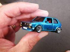 Custom Hot Wheels, Custom Cars, Rc Motors, Volkswagen Golf Mk1, Eden Design, Model Cars Building, Miniature Cars, Diecast Model Cars, Small Cars