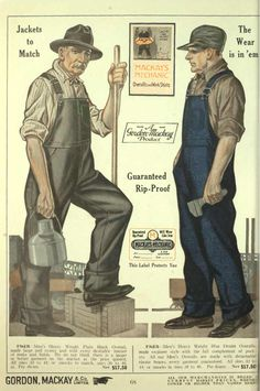 Men's Vintage Workwear - - mens workwear overalls Informations About Men's Vintage Workwear – 19 - Overalls Vintage, Vintage Denim, Men's Vintage, Vintage Style, 1930s Style, Workwear Overalls, Workwear Clothing, Dungarees, Outfits