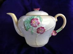 Carlton Ware Wild Rose Teapot | eBay Teapot Cookies, Carlton Ware, Tea For One, Antique Perfume Bottles, Chocolate Pots, Vintage China, Cup And Saucer, A Table, Tea Cups