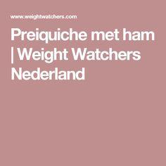 Preiquiche met ham | Weight Watchers Nederland