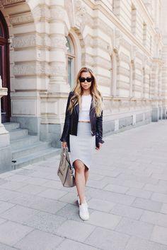 skirt & sneakers
