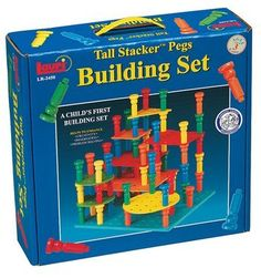 Tall Stacker Pegs Building Set by Lauri Toys, http://www.amazon.com/dp/B000F9X792/ref=cm_sw_r_pi_dp_C13aqb0DE4D2N