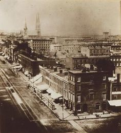 Looking North up 3rd Avenue - New York, NY, USA, 1860