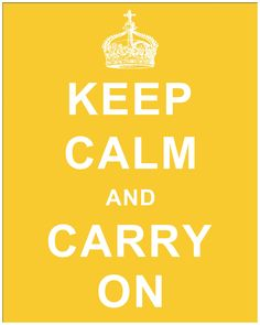 Keep Calm and Carry On II Textual Art in Yellow