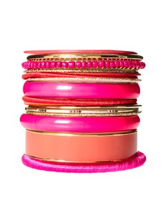 pink arm party stack from asos