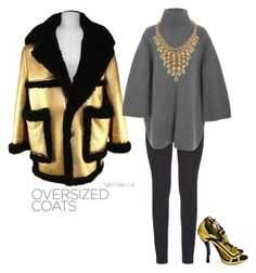 """oversized coat"" by maripuri ❤ liked on Polyvore featuring Prada and Paige Denim"