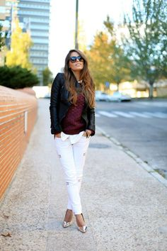 Don't put your white pants way! Use them for the fall and winter!