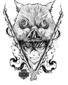 "Gustavo Ferrer Art on Instagram: ""Inosuke de la gran serie Kimetsu no Yaiba ❤ #kimetsunoyaiba #animemasterink #animelove #anime #fanart #mangadrawing"" Anime Drawings Sketches, Anime Sketch, Manga Drawing, Manga Art, Manga Anime, Anime Art, Demon Slayer, Slayer Anime, Anime Angel"