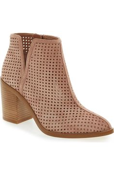 Perforated Bootie (Women) tad too tall but love the perforation.