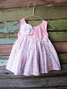 Ruffle Rose Toddler Dress Size 12/18 months by plainjanesstore, $23.00