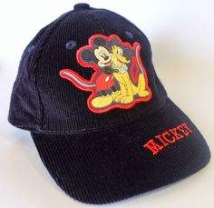 Mickey & Pluto CAP HAT DISNEY 46/50cm Velcroback New with Tags Cotton