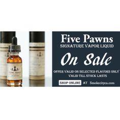 Five pawns Premium #ejuice On Sale for first time at Smokecityca.com .  #vape #ecig #vapelife #fivepawns #vaping #ejuice