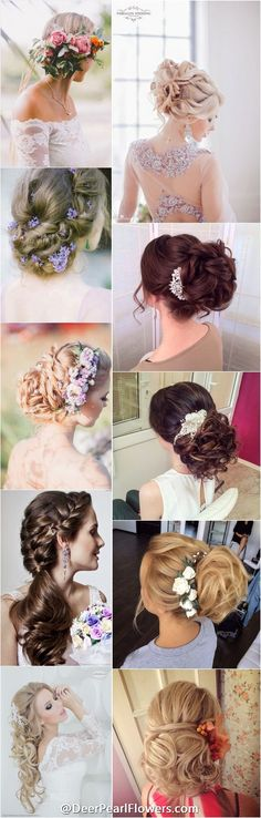 1000+ Wedding Hairstyles for Long Hair | http://www.deerpearlflowers.com/wedding-hairstyles/