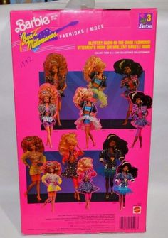 1990 Barbie and the Beat Fashions 4596 Glittery glow - in - the - dark Mattel Christie on Package