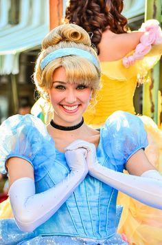 Princess Cinderella at Mickey's Soundsational parade in Disneyland