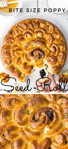 The dough in this bite-size poppy seed roll is made from scratch so it's super moist and fluffy. Each roll is filled with homemade poppy seed filling. Make some for your next brunch. #poppyseedroll #seedroll #homemadepoppyseedfilling #bread