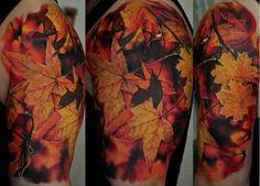 Fall leaves tattoo