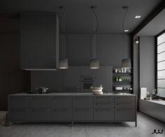 36 Cuisines Noires à Reproduire Chez Vous. Dark InteriorsModern Kitchen  DesignsModern ...