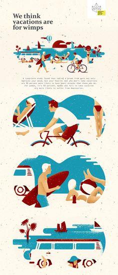 Vacation on Behance_summer vibe illustration + calender Beach Illustration, People Illustration, Character Illustration, Graphic Design Illustration, Digital Illustration, Mouse Illustration, Illustration Styles, Design Sites, Web Design