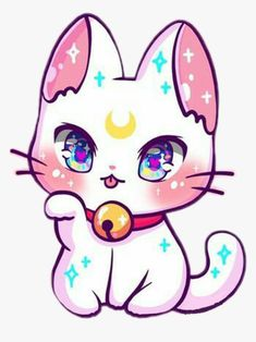 Anime Chibi, Pet Anime, Cute Anime Cat, Chibi Cat, Cute Chibi, Cute Kawaii Animals, Cute Animal Drawings Kawaii, Cute Cartoon Drawings, Cute Cartoon Animals