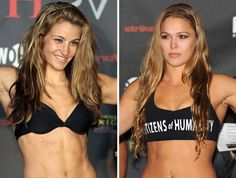 Ronda Rousey and Meisha Tate - smoking hot MMA fighters