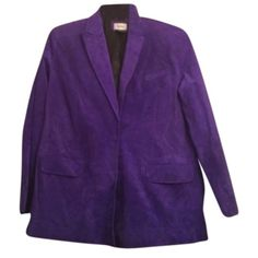 Purple Blazer- Neiman Marcus Exclusive Blazer designed and sold exclusively for Neiman Marcus. Pair this blazer with a sheath dress, slacks or skirt to complete your look. Neiman Marcus Jackets & Coats Blazers
