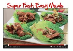 """""""Learn to make super fast easy meals, click photo to..."""
