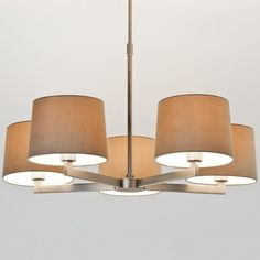 The Martina 5 Arm Ceiling Pendant Light has a Contemporary Feel with Classic Heritage. Finished in Matt Nickel and Height Adjustable. Shades not included. Astro 7087