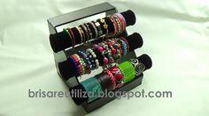 Organizador de pulseras con material reciclado | Aprender manualidades es facilisimo.com