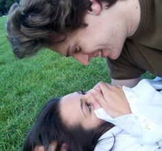 Baby Jonathan Groff and Lea Michele. If he wasn't gay, they would be soulmates. No doubt about it. <3