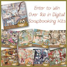 Win over $50 in digital scrapbooking goodies!