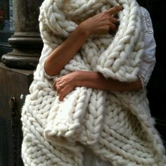 giant anthropology cable knit blanket.