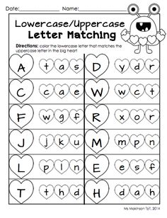 Worksheets Upper And Lowercase Letters Worksheets pre k literacy and december on pinterest