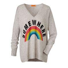 Pullover, Kaschmir, Regenbogen, boxy, von miss goodlife