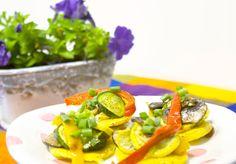Fried Polenta with Veggies #Recipe #Appetizer
