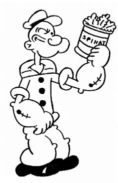 Popeye Coloring Pages: Let's look at some coloring sheets featuring Popeye, Bluto, Wimpy and other characters and scenes from the comic strip.