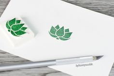 lotus stamp, lotus rubber stamp, water lily stamp, waterlily rubber stamp, motif stamp, flower rubber stamp, yoga stamp, hand carved stamp