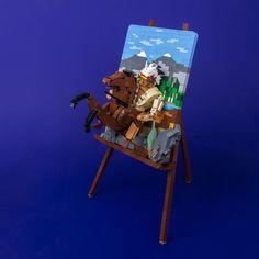 Master LEGO artist Markus Rollbühler ( brings us his latest work, still drying on the easel. S Brick, Lego Mecha, Lego News, Lego Models, The Brethren, Custom Lego, 2d Art, Lego Creations, Lego Star Wars
