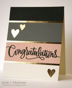 Congratulations (and Simon Says Stamp Card Kit Giveaway!) My Impressions: Congratulations (and Simon Says Stamp Card Kit Giveaway! Love Cards, Diy Cards, Tarjetas Diy, Wedding Congratulations Card, Congrats Cards, Karten Diy, Simon Says, Card Kit, Anniversary Cards