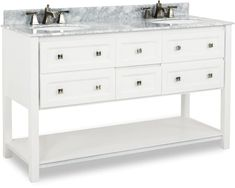 Cabinet Boxes - Vanity Cabinets - Page 15 - Cabinet Now White Vanity, Diy Vanity, Cabinet Boxes, Vanity Cabinet, Extra Storage Space, Storage Spaces, Contemporary Vanity, Mdf Wood, Shaker Style